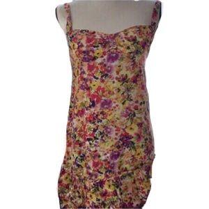 LOFT Ann Taylor Floral Dress Ruffles Lightweight 2